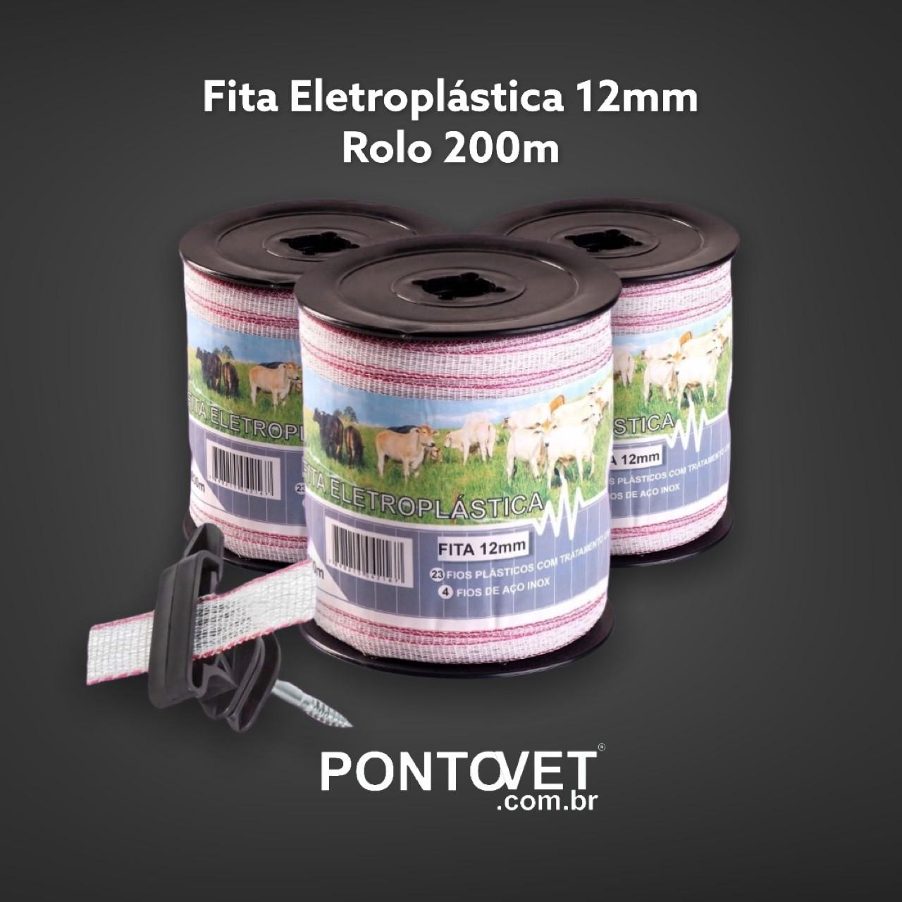 Fita Eletroplástica 12mm (rolo 200m)