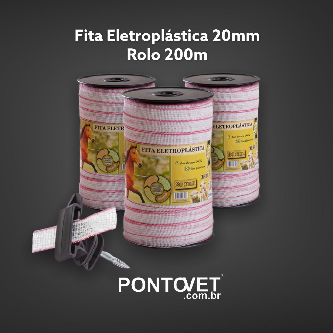 Fita Eletroplástica 20mm (Rolo 200m)