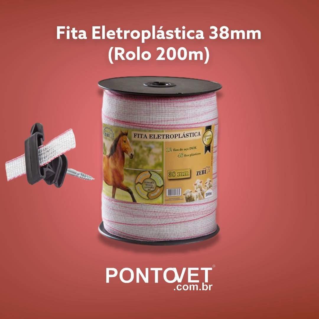 Fita Eletroplástica 38mm (Rolo 200m)