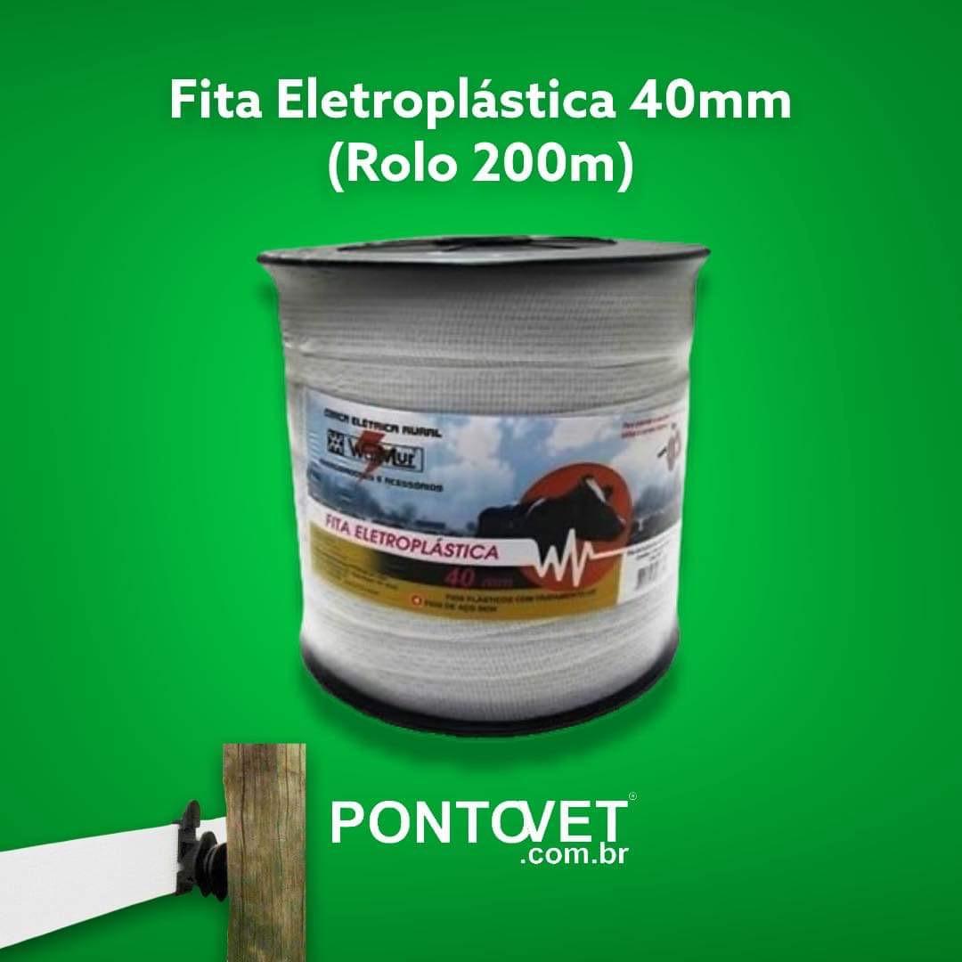 Fita Eletroplástica 40mm (Rolo 200m)