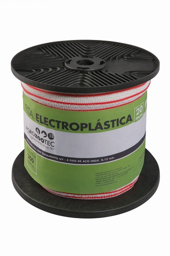 Fita Eletroplástica Agrozootec 20mm (Rolo com 200m)