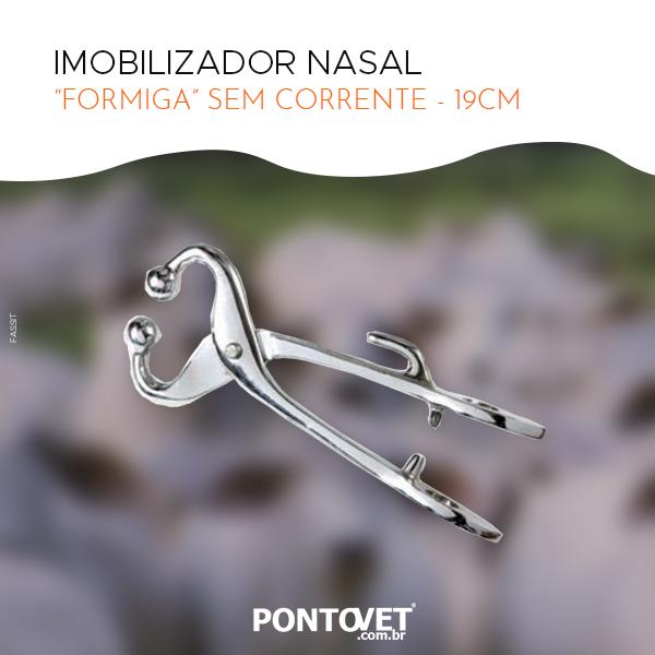"""Imobilizador Nasal """"Formiga"""" Sem Corrente - 19cm"""