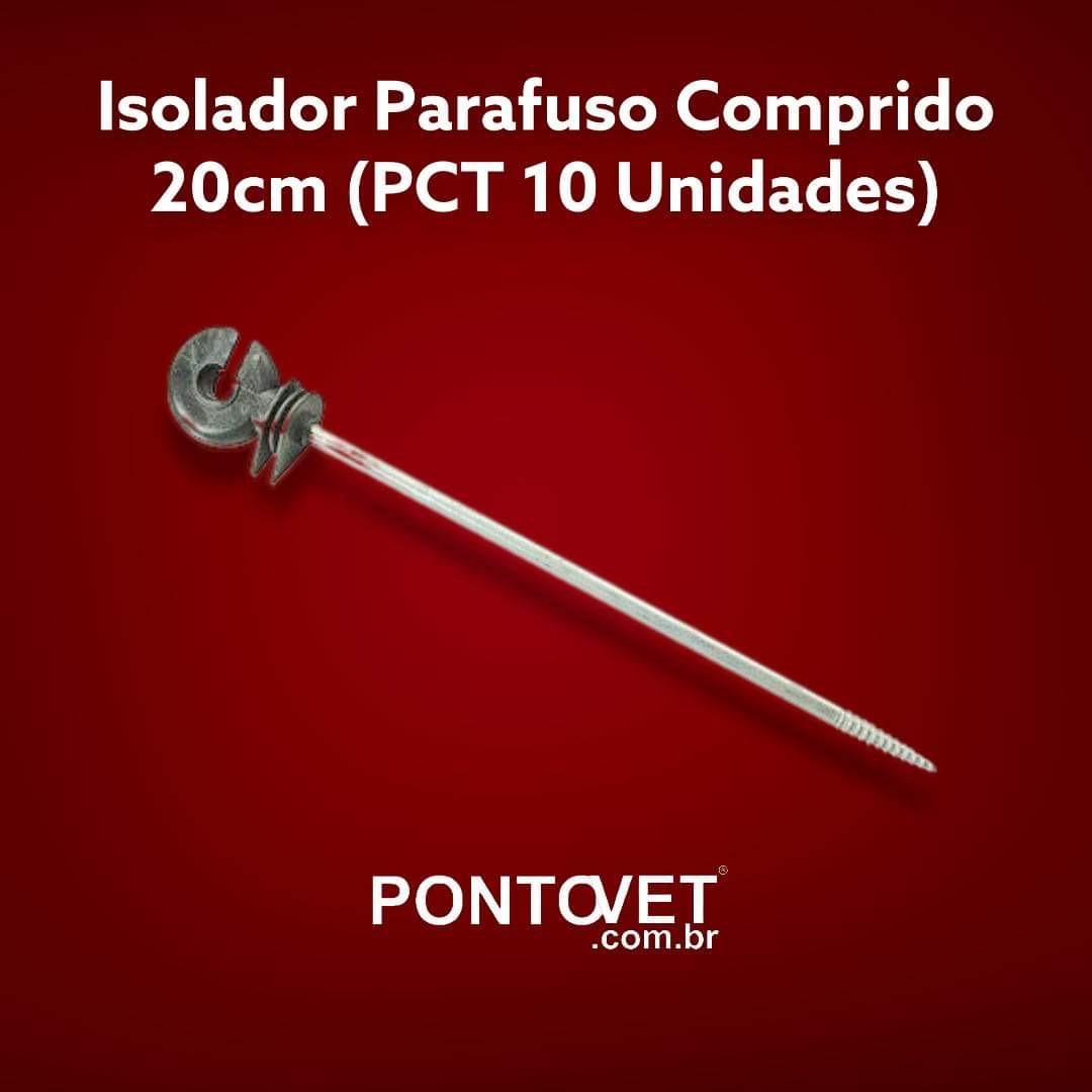 Isolador Parafuso Comprido 20cm (Pct 10 Unidades)