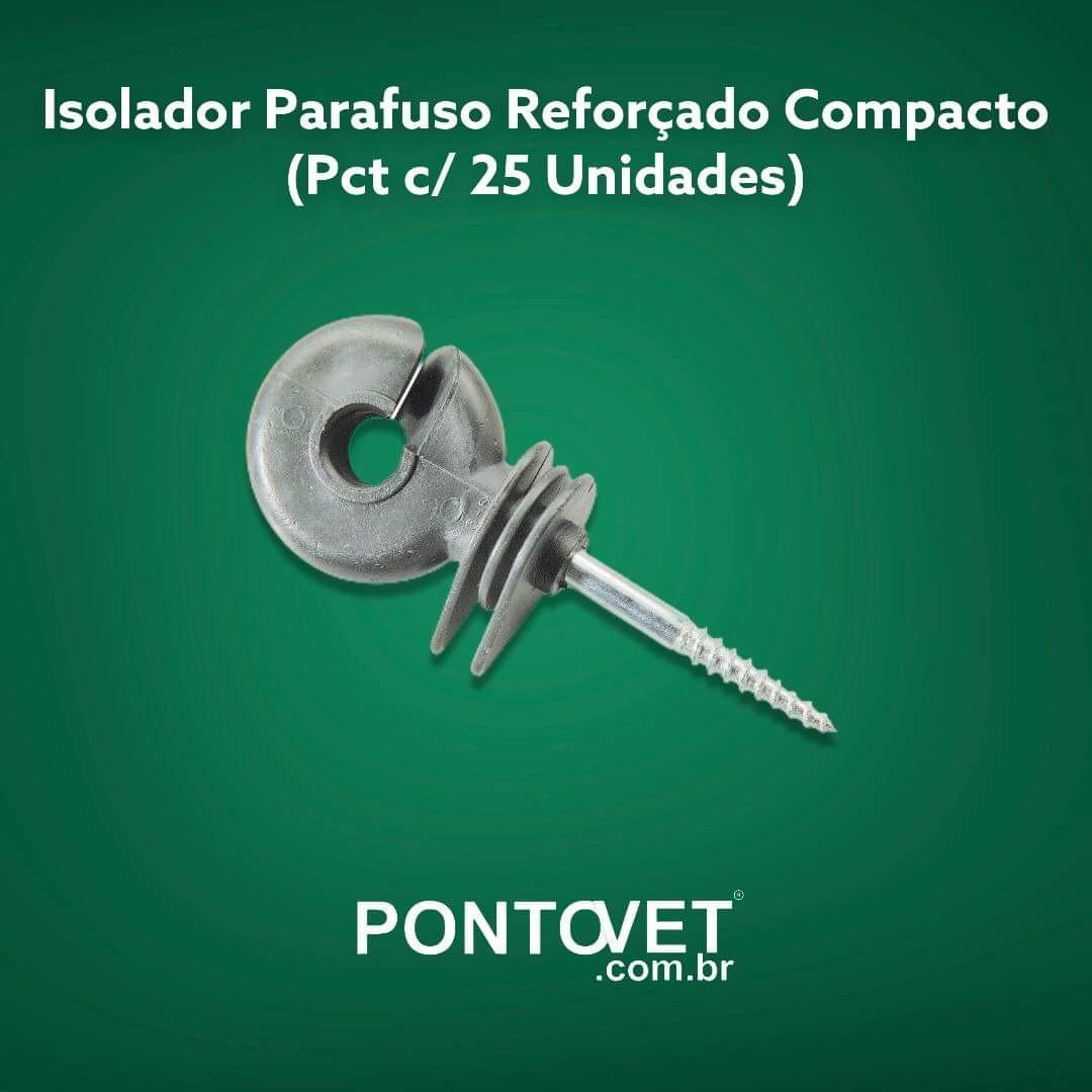 Isolador Parafuso Reforçado Compacto (Pct c/ 25 Unidades)