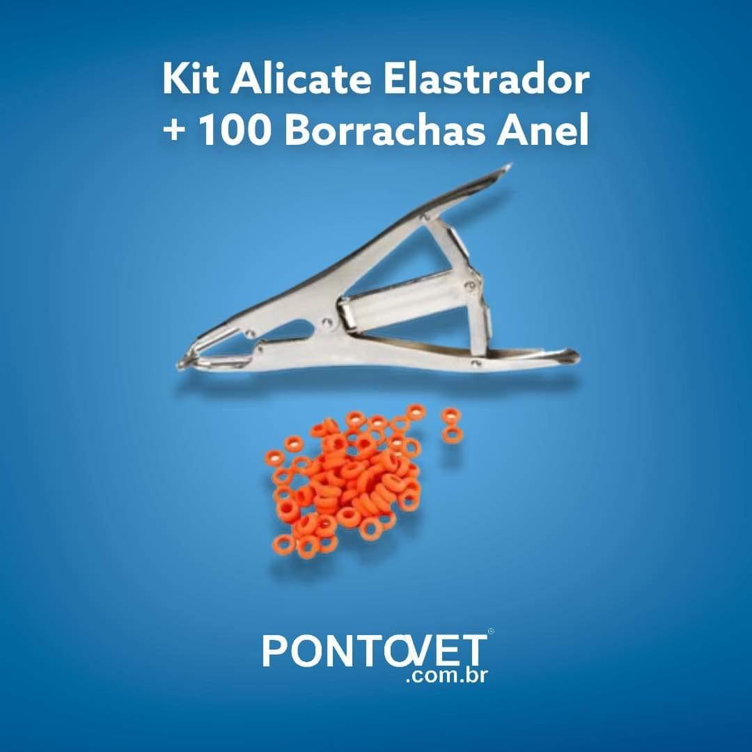 Kit Alicate Elastrador + 100 Borrachas Anel