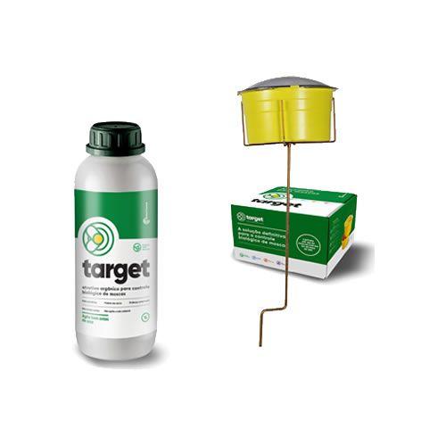Kit Armadilha Para Moscas e Atrativo Target Biológico 1 Litro
