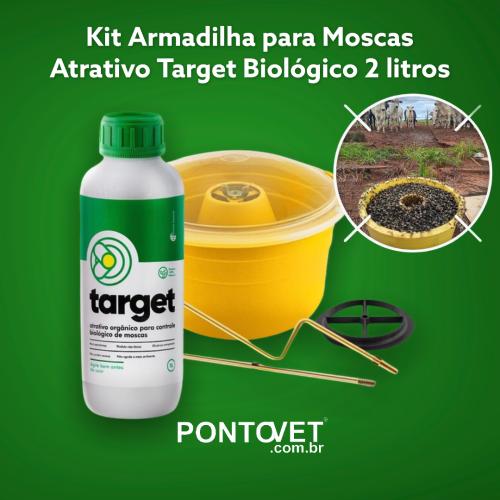 Kit Armadilha Para Moscas e Atrativo Target Biológico 2 Litros