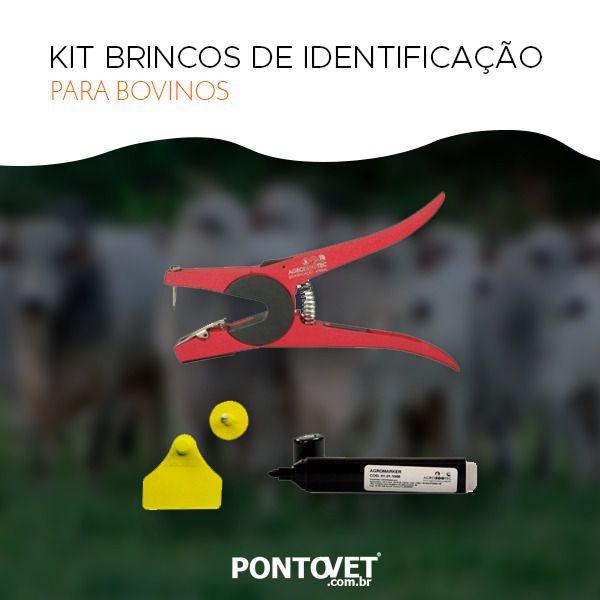 Kit Brincos de Identificação Bovinos