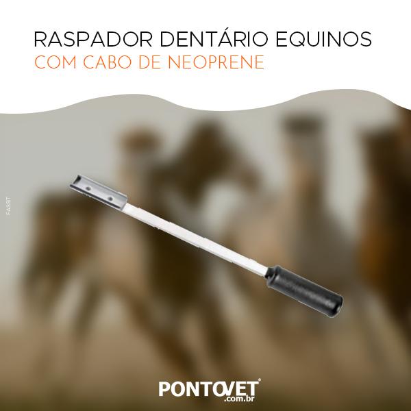 Raspador Dentário Para Equinos Com Cabo De Neoprene (Ponta Arredondada Reta)