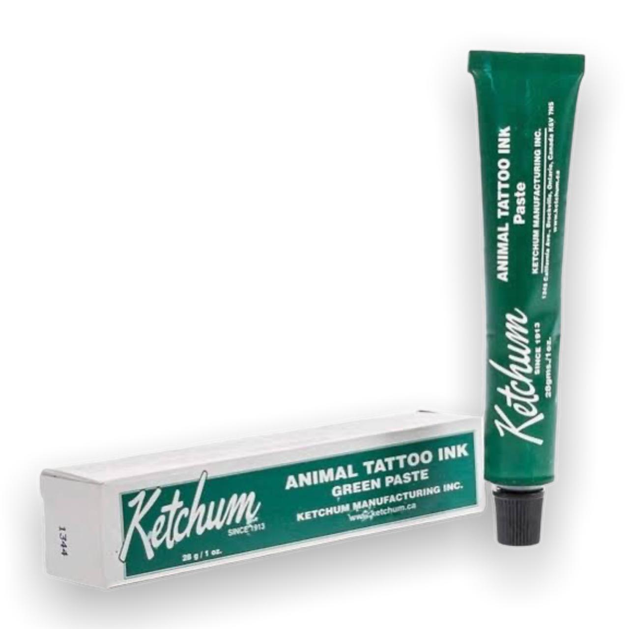 Tinta para Tatuadeira Cor Verde 28gr - Ketchum (Bisnaga)