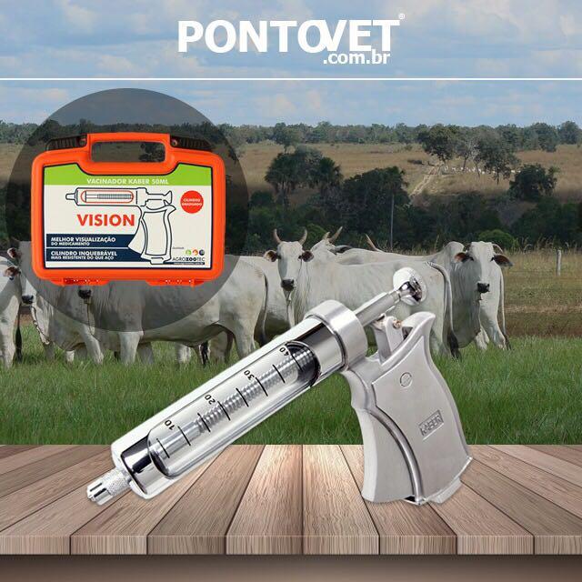 Vacinador Kaber Vision com Cilindro Ultra-Resistente 50ml