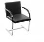 Cadeira Brno Aço inox Preta - Moln Design Furniture