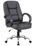 Cadeira Escritório NOLL LOW Giratória Couro Ecológico Preto - Moln Design Furniture