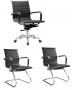 Conjunto Cadeira Escritório BRUN Charles Eames Diretor Preta - Moln Design Furniture