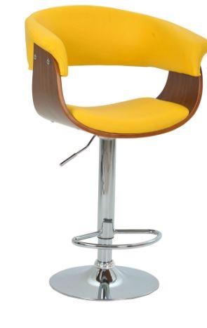 Banqueta Betim Amarela Base Disco - Moln Design Furniture