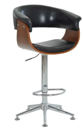 Banqueta Betim Preta Base Estrela - Moln Design Furniture