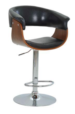 Banqueta Betim Preta Base Disco - Moln Design Furniture
