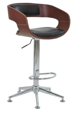 Banqueta Londrina PU Marrom Base Estrela - Moln Design Furniture