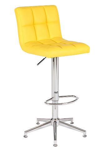 Banqueta Recife Amarela Base Estrela - Moln Design Furniture