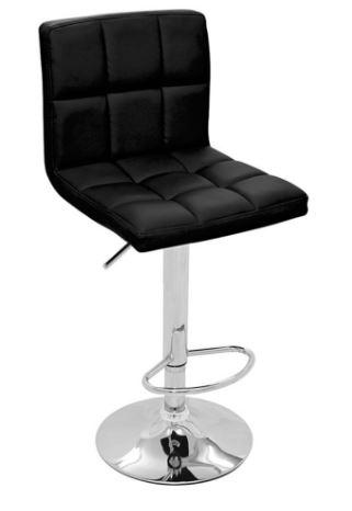 Banqueta Recife Preta Base Disco - Moln Design Furniture