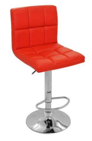Banqueta Recife Vermelha Base Disco - Moln Design Furniture