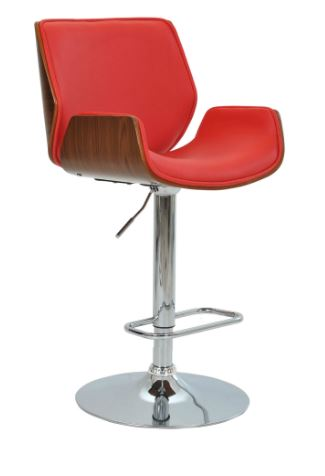 Banqueta Santos Vermelha Base Disco - Moln Design Furniture