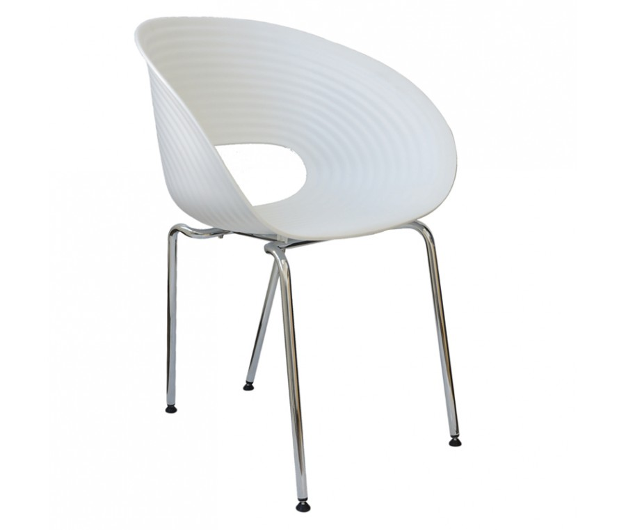 Cadeira Circulos Polipropileno Branca - Moln Design Furniture