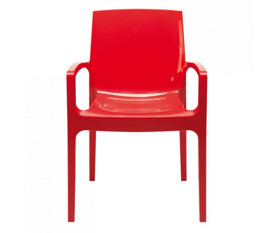 Cadeira Cream Polipropileno Vermelho - Moln Design Furniture