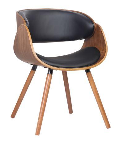 Cadeira Deise Assento PU Base madeira - Moln Design Furniture