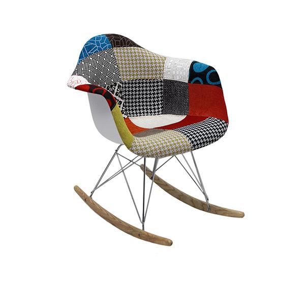 Cadeira Eiffel Charles Eames Balanco Com Braço PatchWork  - Moln Design Furniture