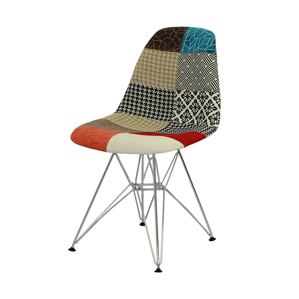 Cadeira Eiffel Charles Eames Patchwork Base Metal - Moln Design Furniture