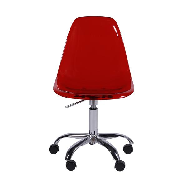 Cadeira Eiffel Rodízios Policarbonato Vermelha - Moln Design Furniture