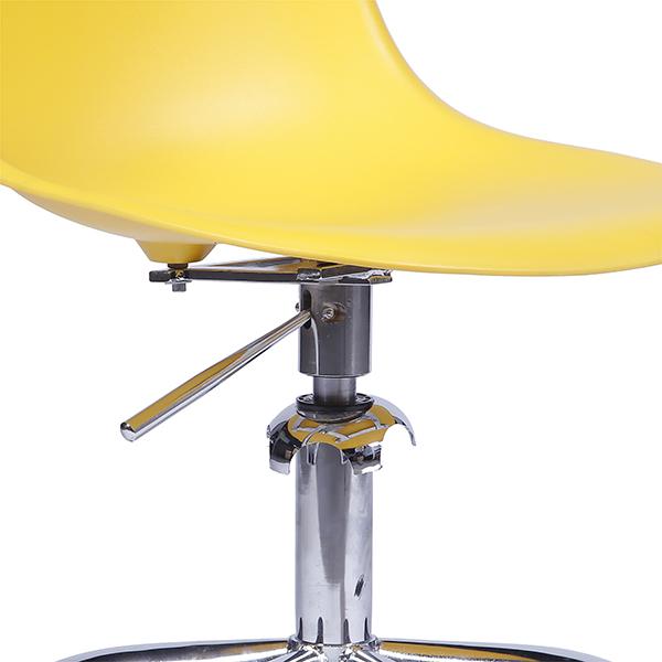 Cadeira Eiffel Rodízios Polipropileno Amarela - Moln Design Furniture