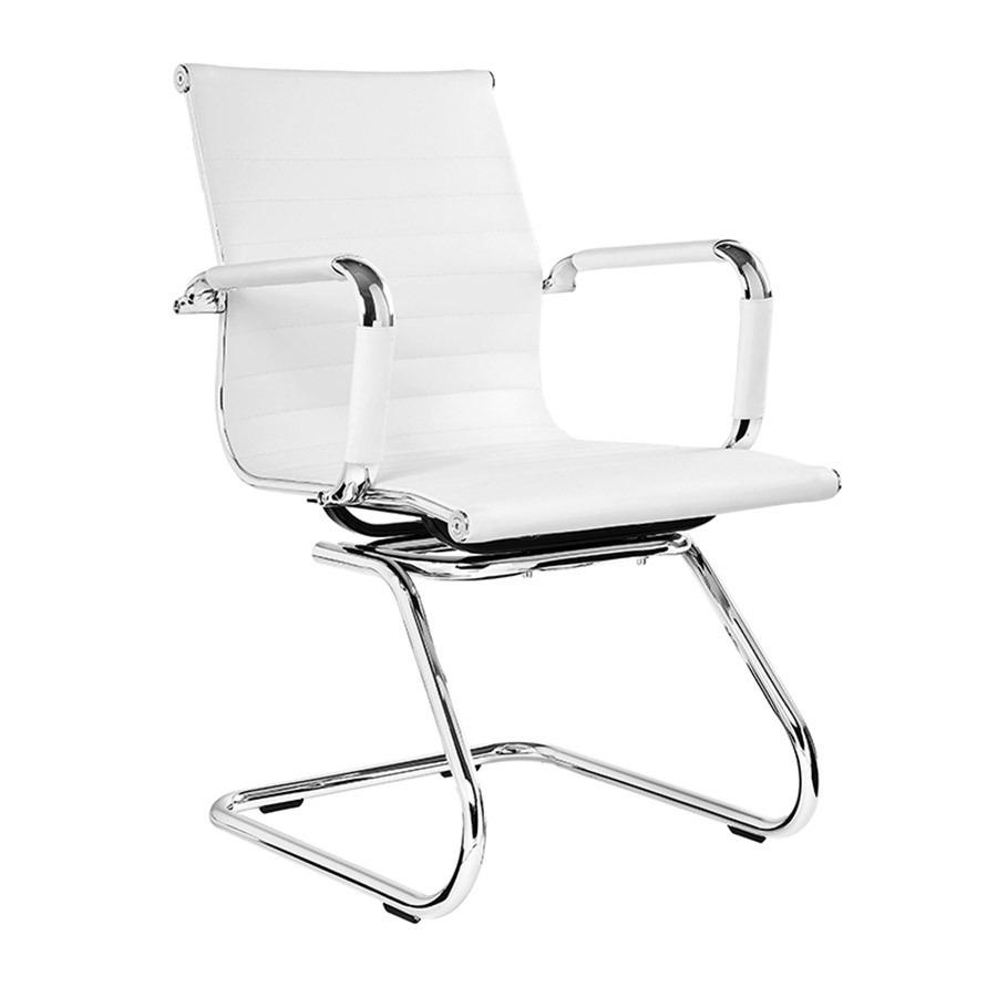 Cadeira Escritório Charles Eames Office Fixa Interlocutor Branca - Moln Design Furniture