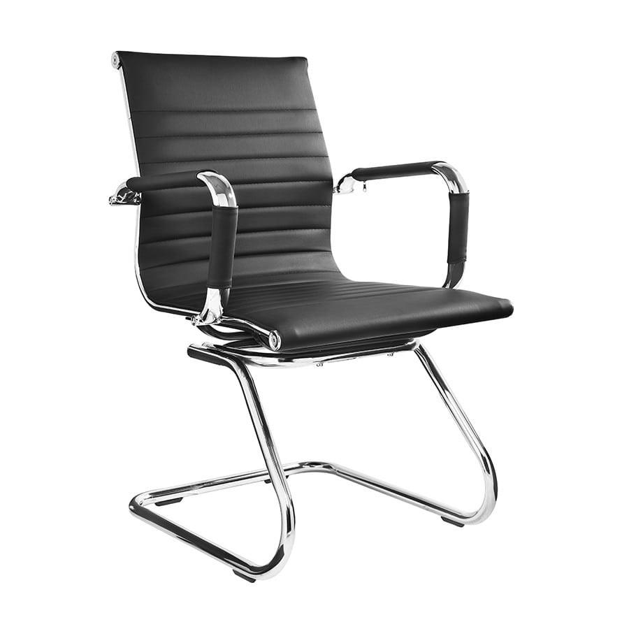Cadeira Escritório Charles Eames Office Fixa Interlocutor Preta - Moln Design Furniture