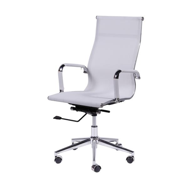 Cadeira Escritório Charles Eames Office Telinha Encosto Alto Branca - Moln Design Furniture