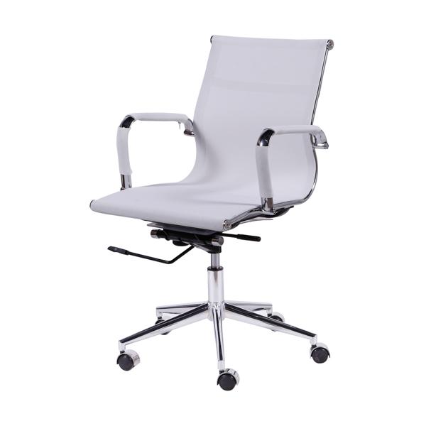Cadeira Escritório Charles Eames Office Telinha Encosto Baixo Branca - Moln Design Furniture