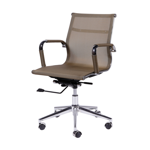 Cadeira Escritório Charles Eames Office Telinha Encosto Baixo Cobre - Moln Design Furniture