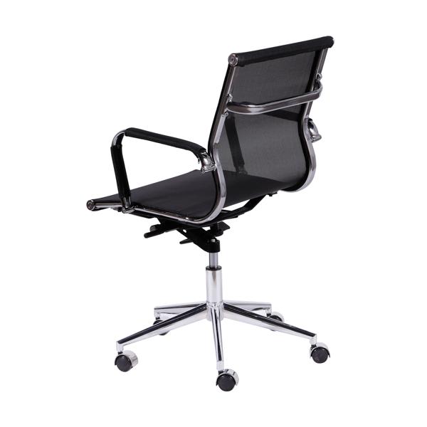 Cadeira Escritório Charles Eames Office Telinha Encosto Baixo Preta - Moln Design Furniture