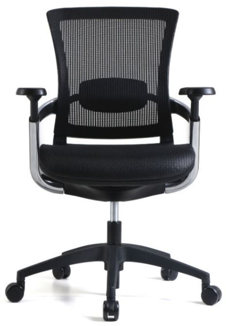 Cadeira Escritório Diretor Giratória Ergonômica em Tela Mesh Preta Modelo Skate