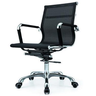 Cadeira Escritório HAAV Charles Eames Giratoria Office Telinha Encosto Baixo Preta