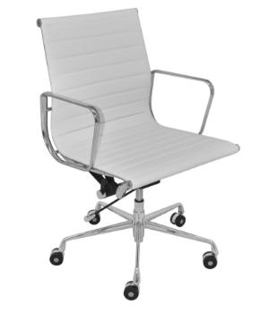 Cadeira Escritorio Madrid Baixa Branca - Moln Design Furniture