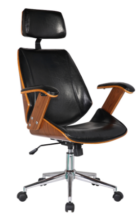 Cadeira Escritorio Office Lisboa Preta - Moln Design Furniture