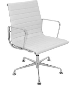 Cadeira Escritorio Office Madrid Fixa Branca - Moln Design Furniture