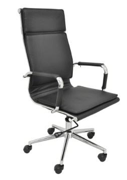 Cadeira Escritorio Office Valencia Alta Preta - Moln Design Furniture