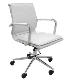 Cadeira Escritorio Office Valencia Baixa Branca - Moln Design Furniture