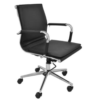 Cadeira Escritorio Office Valencia Baixa Preta - Moln Design Furniture