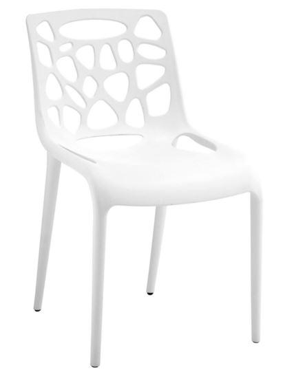 Cadeira Giovanna Polipropileno Branca - Moln Design Furniture