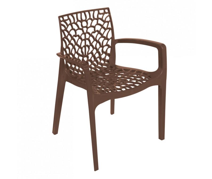 Cadeira Gruvyer Com Braço Marrom - Moln Design Furniture