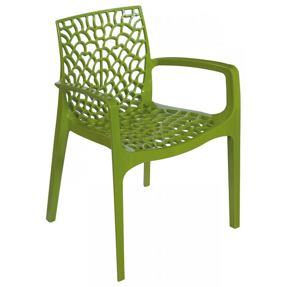 Cadeira Gruvyer Com Braço Verde - Moln Design Furniture